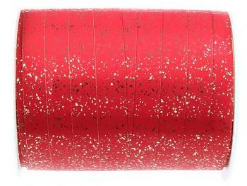 Metalická červená stuha 10 mm x 25 m 731234849