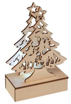 Vánoční svítící stromeček, 8,5 x 4,5 x 13,5 cm 731235012