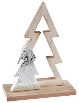 Dřevěná dekrorace, stromy 13,5 x 5 x 17 cm 731235000