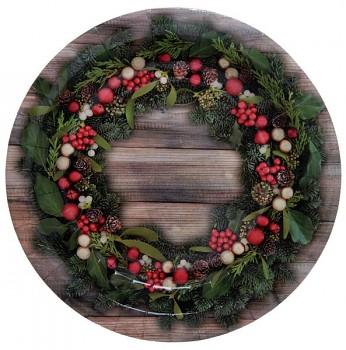 Vánoční přírodní tácek 10 ks, 22,5 cm 731234991