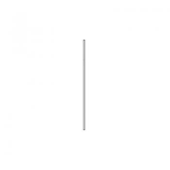 Nerezové brčko 21,5 cm x 0,6 cm - rovné, stříbrné 731240728