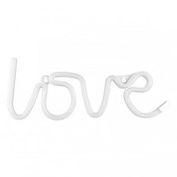 Nápis Love bílý svítící 731246648