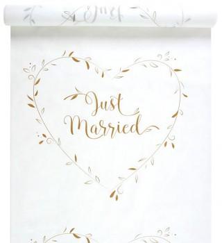 Koberec se zlatým nápisem Just Married 731254086