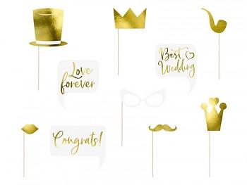 Svatební rekvizity zlaté, mix 731249595