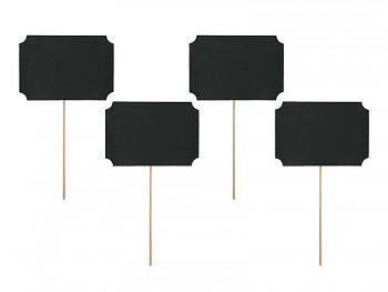 Rekvizity na focení - černé cedulky 4 ks 731249597