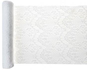 Šerpa stolová krajková Boho Chic bílá 3mx30cm 731251793