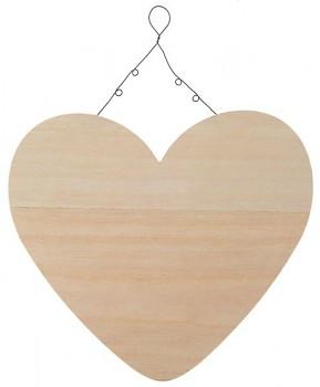 Dřevěné závěsné srdce, 25.5 x 25.5 x 9 cm 731251803