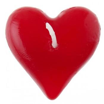 Plovoucí svíčka srdce - červené 731251792