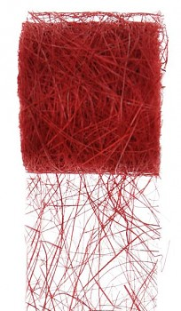 Stuha červená z kokos. vláken 70mm/5m 731251990