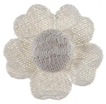 Lepící krajkový květ bílý, 4 ks 731251977