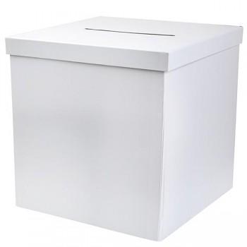 Dárková bílá krabice na obálky 731252090